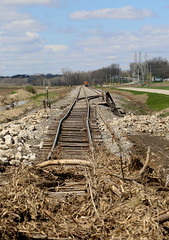 Avoiding a Disaster (JayLev) Tags: railroad flood washout bnsf peoria flashflood roadbed