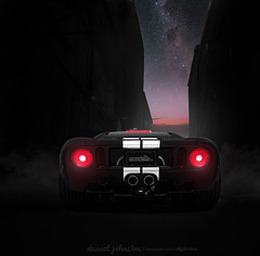 FordGTv2 (MWE.Daniel) Tags: sky cars ford car night photoshop dark stars photography lights alley nikon paint photoshopped automotive flare chop chopped shopped supercar supercharged milkyway fordgt nikond90