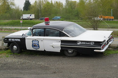 Chevy Impala_0159 (Mike Head -Jetwashphotos) Tags: canada advertising promo bc britishcolumbia chevy policecar restored parked impala promotional patrol polished abbotsford centralvalley chevolet immaculate fraservalley refurbished licensed westerncanada roadworthy late50s lookedafter hotrodpatrol toolcompany canadianwest abbotsfordmunicipality