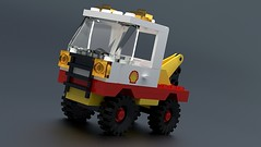 6628-1: Shell Tow Truck (juraj3579) Tags: digital truck lego shell sr tow builder ldraw 6628