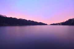 365:98 Roundhay Sunrise (karldelahaye) Tags: park longexposure lake water sunrise landscape nikon wideangle bluehour tamron roundhaypark roundhay d5100 nikond5100