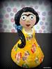 Frida (* Cláudia Helena * brincadeira de papel *) Tags: brazil brasil cores doll frida boneca cor papermache papiermachè papelmachê cláudiahelena