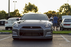 Nissan GTR Sunset (Brett Levin Photography) Tags: show sunset car university nissan florida south towers gray led r gt davie gtr 595 sfla