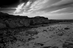 Cliffside (Jodie Aspin) Tags: sea white black beach water by clouds grey rocks earth tone cliffside newbiggin