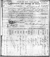 Adele Sherwood Death Certificate