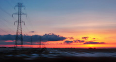 Prairie Sunset Supreme (LostMyHeadache: Absolutely Free *) Tags: sunset sky snow nature field lines clouds canon evening twilight industrial glow powerlines motionblur alberta prairie 1001nights davidsmith calgaryalbertacanada eos60d 1001nightsmagiccity