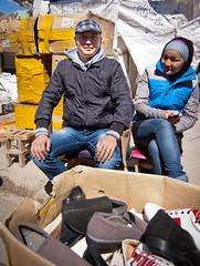 The Shoe Couple (berik) Tags: people proud shoes couple market dina boxes centralasia kazakhstan atyrau