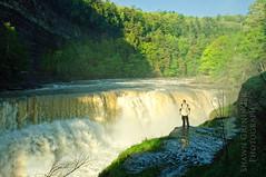 Lower Falls (ShawnGrenningerPhoto) Tags: selfportrait ny newyork man nature person waterfall spring may falls letchworthstatepark lowerfalls geneseeriver 2011
