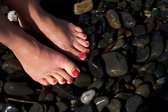 Baltimore Photographer | Moist sandy feet with bright pedicured toes (pretty happy feet) Tags: life pink red sea woman white color sexy art feet wet female fun foot mar athletic healthy shiny toes long erotic play bright feminine bare painted sandy free arches pop pale glossy nails commercial barefoot pies editorial pedicure toned spa milky luxury firm piedi feature fit campy creamy airy commentary pampered moist pues