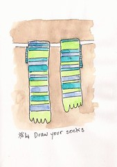 EDinM #4 Draw your socks (sarabeee) Tags: