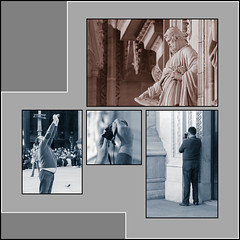 Characters and Performers (beppeverge) Tags: foto milano duomo statua fotografo turista personaggi interpreti beppeverge