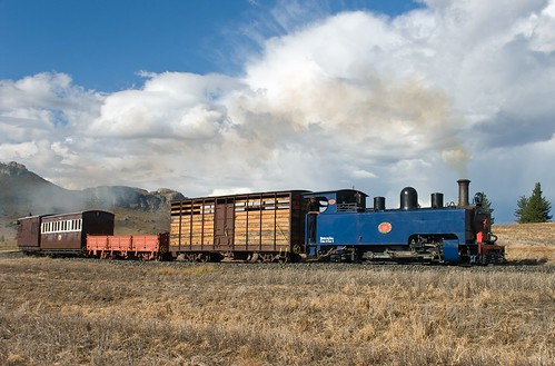 NG4 no. 6 near Vailima Loop. Sandstone Heritage Trust Railway, Free State, South Africa, 4th May 2009.