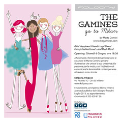 Solo Show // Milano // June 6th 2013 (Marta Comini) Tags: girls fashion illustration milano vogue marta illo galleria soloshow comini kalpany thegamines