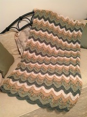 Leslie Jones (The Crochet Crowd) Tags: ripple crochet mikey yarn blanket afghan april redheart chevron challenge freepattern 2013 freecrochetpattern thecrochetcrowd oceanoceanwavesafghan
