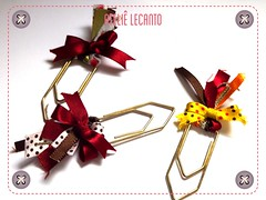 Clips decorado - Decorative Paper Clips (Ateli Lecanto) Tags: decorative artesanal clips craft stationery paperclip papelaria decorado
