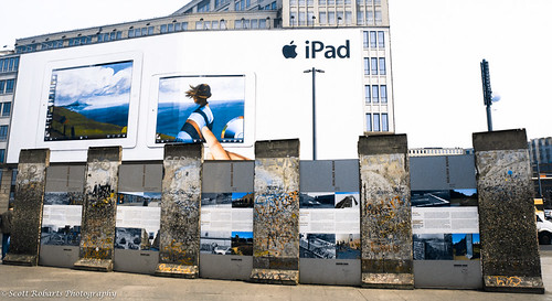 Berlin Wall and iPod Ad