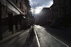 New York Greenwich Village (SelvaMadre) Tags: street usa newyork architecture manhattan architettura controluce greenwichvillage bycicle bicicletta counterlight