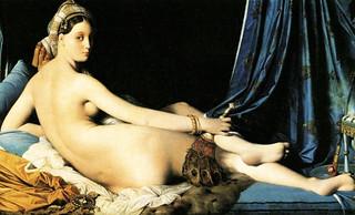 La Gran Odalisca, argumentación de Jean Auguste Ingres (1814), sinapsis de Auguste Renoir (1890), Pablo Picasso (1907), Amadeo Modigliani (1917).