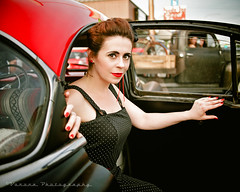Retro class () Tags: auto usa classic girl fashion america photo cool model automobile image united picture culture retro nostalgia photograph rockabilly vehicle nostalgic americana louie states gs pinup greaser kustom kulture voronaphotography sammiemarie