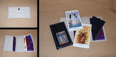 The Lovers' Tarot Meditation Deck and Book (prettyhandmadethings) Tags: love cards book purple heart sewing silk lovers canvas deck cotton tarot button meditation renaissance sewn