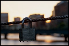 QA121596 - Lock above the Yarra (Derek Midgley) Tags: bridge macro river lock melbourne pedestrian yarra padlock olympusmzuikoed60mmf28macro