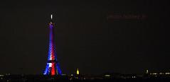 Tour Eiffel tricolore le 14 juillet 2016, fte nationale, Bastille day. (louis.labbez) Tags: light panorama paris france tower french tour lumire flag eiffel nuit iledefrance bastilleday drapeau 14juillet tricolore bleublancrouge lumire labbez