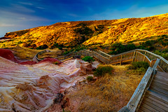 Hallett Cove Boardwalk at sunset, South Australia (spotandshoot.com) Tags: adelaide australia blue boardwalk coastline hallettcove walking background beautiful bush clouds conservation copysapce dawn dramatic dusk erosion evening goldenhour hallett hills impressive landscape light lookout natural nature nobody outdoor park path peaceful recreation red scenery scenic season spectacular summer sunset sunshine tourism trail travel vacation view weather yellow