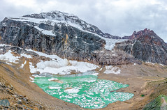 from on high (john dusseault) Tags: mtedithcavell water ice glacier moraine mountain alberta canada angelglacier cavellgalcier