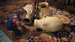 Investigating urns (Scott SM) Tags: 2 two year old toddler urn vase upenn penn university pennsylvania museum archaeology anthropology