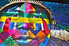 Natives (natan_fl) Tags: rio graffiti night olympic indian native colors wall streetart flickr red blue green art light yellow city new