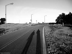 ~never walk alone~ (  2.000.000views!!!!) Tags: tasostsoukalasphotography blackwhite blackdiamond blackandwhite shadows people greece parnitha