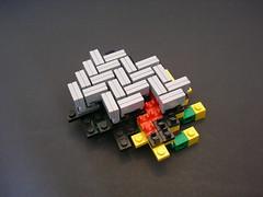 Technique Week: Day 9 (Mr. Cab) Tags: lego technique techniqueweek floor tiling tile