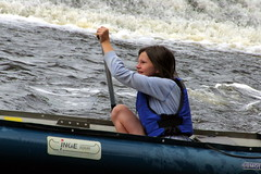 23.8.16 Vyssi Brod Weir 218 (donald judge) Tags: czech republic south bohemia vyssi brod weir boats rafts canoes river vltava