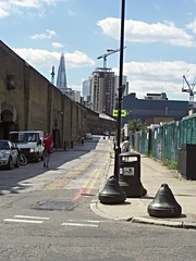 Bollards at the Tobacco Docks (Avvie_) Tags: frances coles london east spitalfields aldgate whitechapel jack ripper stepney wapping catherine wheel alley swallow gardens st georges mortuary