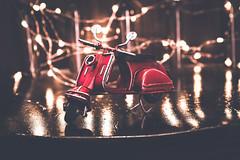 [ v e s p e t t a ] (chleggiero) Tags: vespa red lightroom light lights bokeh brown stilllife beauty beautiful creative art