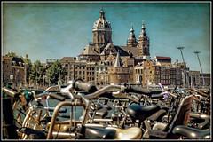 Sint-Nicolaasbasiliek (novofotoo) Tags: amsterdam basilikastnikolaus fahrrad niederlande nikolaibasilika reise schreierstoren wehrturm