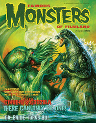 Famous Monsters of Filmland #281 (2015), Cthulhu vs. Godzilla cover by Bob Eggleton (Tom Simpson) Tags: famousmonstersoffilmland 2016 cthulhu godzilla cover bobeggleton famousmonsters kaiju illustration painting 2010s art monster