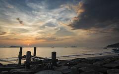 Sunset view from Lung Kwu Tan (Lamuel Chung) Tags: sunset sunlight sun sunny cloud cloudscape evening magic hour bay bayside beach beautiful hongkong d7100 nikon nikkor 1685 nisi filter landscape wooden bridge ordinary