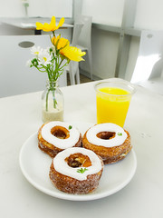Pear honey cream cheese cronut (mcolleague) Tags: dominique ansel bakery new york cronut