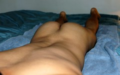 Bubble Butt (poilj) Tags: young male athletic smooth naked massage twink tan nude
