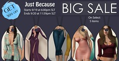 Just BECAUSE - FLASH SALE! (Just BECAUSE_SL) Tags: flash sale 50 off jb just because secondlife sl