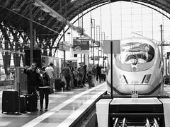Selfiemania II (greytoneduo) Tags: frankfurt city blackandwhite railwaystation