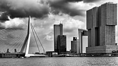 Erasmus brug en Kop van Zuid (jo.misere) Tags: rotterdam kopvanzuid erasmusbrug dreigend wolken clouds