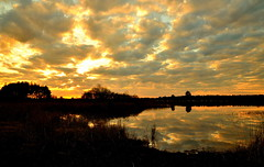 """"""" Sunset  Gildehauservenn  """" (Kalbonsai) Tags: sunset gildehauservenn veengebied outdoorphotography naturphotography clouds wolken sun zon waterscape germany nikon d5100 1685mm"""
