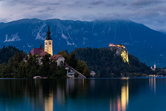 Church on an island (Zimeoni) Tags: lake bled slovenia church island landscape travel long exposure reflection mountains