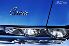 My Name is Corvair (Hi-Fi Fotos) Tags: chevy chevrolet corvair chrome badge emblem logo name script lettering detail vintage american classiccar blue nikon d5000 hififotos hallewell