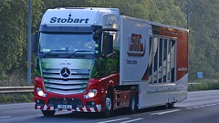 GN14 WLA (panmanstan) Tags: stobart mercedes mp4 actros wagon truck lorry commercial freight transport haulage vehicle a63 southcave yorkshire