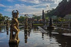 Statues (ben_leash) Tags: blue tirtagangga sony a77 bali indonesia statue garden temple hindu