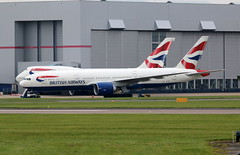 G-VIIA getting ready. (aitch tee) Tags: cardiffairport aircraft airliner britishairways boeing b777200 bamc maintenance gviia cwlegff maesawyrcaerdydd walesuk