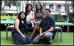 Gang of four outdoors (Nagarjun) Tags: bangalore ruchi kaushal vedant anindita ipsita malathi sowmya murli casaansal